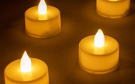 Nexos 64196 Dekorativní LED sada - 4 svíčky - bílá