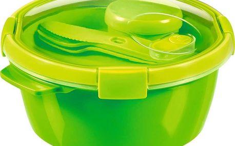 CURVER SMART TO GO 43810 Dóza s příborem, táckem a kelímkem 1,6L - zelená