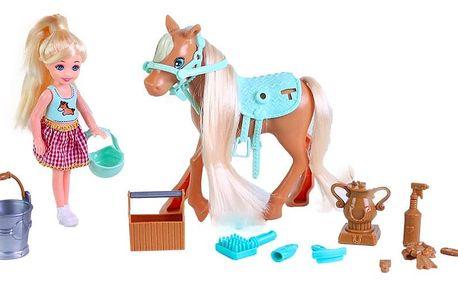 Rappa Česací kůň s panenkou a příslušenstvím