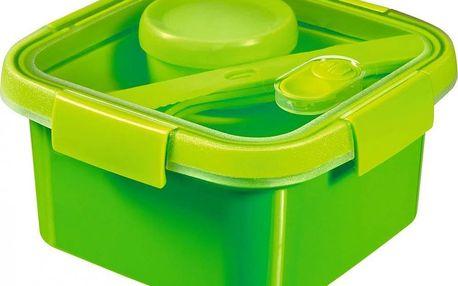 CURVER SMART TO GO 43807 Dóza s příborem, táckem a kelímkem 1,1L - zelená