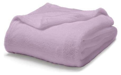 TODAY TODAY Maxi fleece deka 220x240 cm Poudre De Lila - pudrová