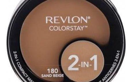 Revlon Colorstay 2-In-1 12,3 g kompaktní make-up a korektor 2v1 pro ženy 180 Sand Beige