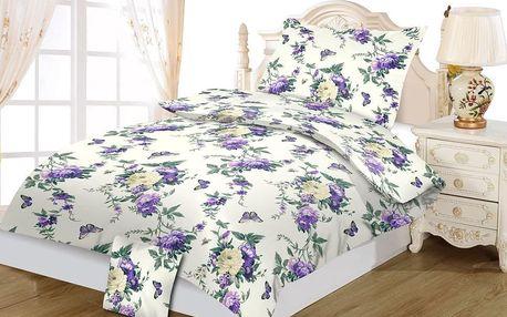 Jahu bavlna povlečení Violeta 140x200 70x90 40x40