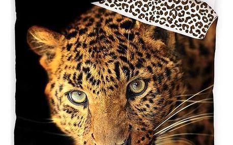Tipttrade Bavlněné povlečení Leopard, 140 x 200 cm, 70 x 90 cm