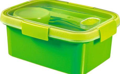 CURVER SMART TO GO 43809 Dóza s příborem, táckem a kelímkem 1,2L - zelená