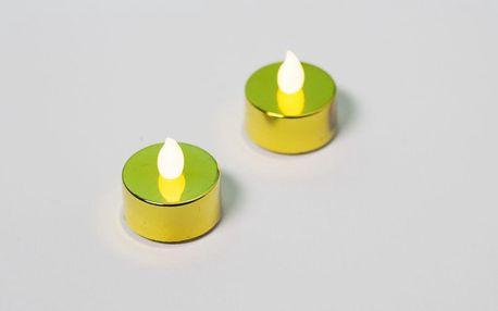 Nexos 42986 Dekorativní sada - 2 čajové svíčky - zlatá