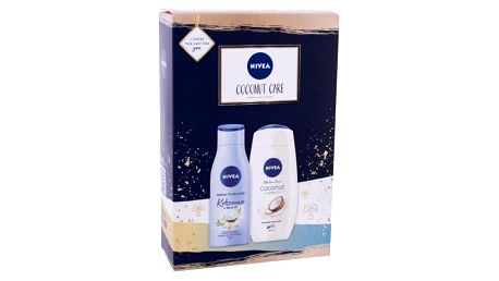 Nivea Care & Coconut dárková kazeta pro ženy sprchový krém Care & Coconut 250 ml + tělové mléko Coconut & Monoi Oil 200 ml
