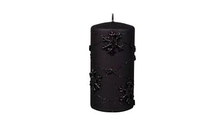 Svíčka vánoční SNOWFLAKES VÁLEC d7x14cm