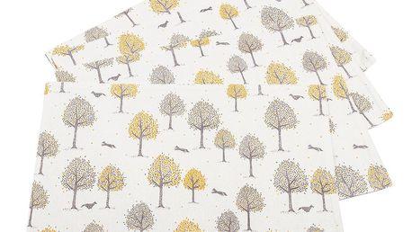 Trade Concept Prostírání Stromečky, 33 x 45 cm, sada 4 ks