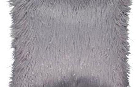Polštář, šedá / stříbrná, 45x45, FOXA TYP 2