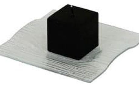 Skleněný tácek (pod svíčku) YQF2517-1C