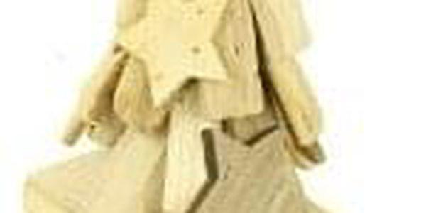 Svícen dřevěný s bodcem na svíčku DV2916