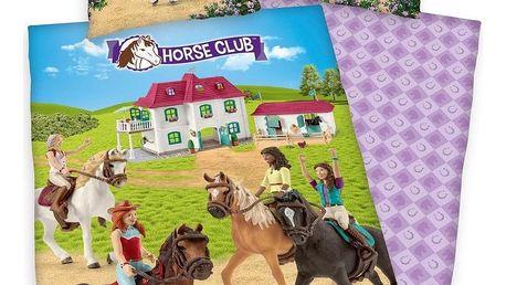 Herding Dětské bavlněné povlečení Horse club, 140 x 200 cm, 70 x 90 cm
