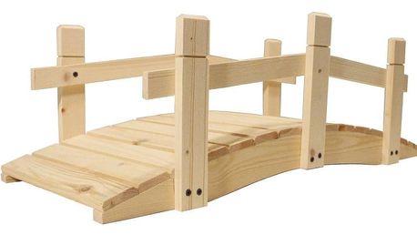 Gaboni 55172 Zahradní dřevěný můstek - bez povrchové úpravy - 71 cm