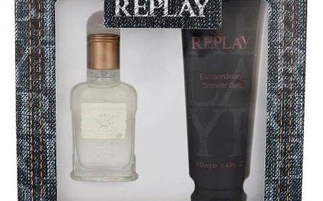 Replay Jeans Original! For Him dárková kazeta pro muže toaletní voda 30 ml + sprchový gel 100 ml