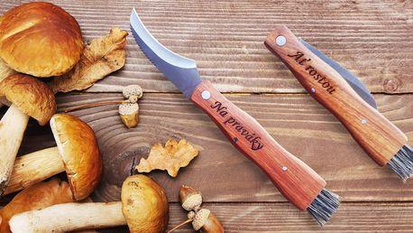 Nůž na houby se štětečkem a vygravírovaným textem