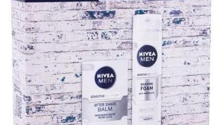 Nivea Men Sensitive Recovery dárková kazeta pro muže balzám po holení Men Sensitive Recovery 100 ml + pěna na holení Men Sensitive Recovery 200 ml