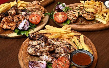 Kuře po arabsku v restauraci v centru Prahy