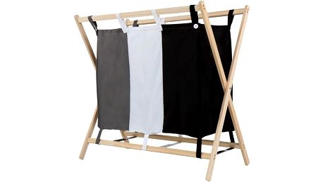Jago 74066 Koš na prádlo se 3 přihrádkami, 75 x 40 x 72 cm