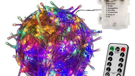 VOLTRONIC® 67402 Vánoční LED osvětlení - 5 m, 50 LED, barevné, na baterie