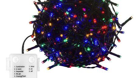 VOLTRONIC® 67690 Vánoční řetěz - 20 m, 200 LED, barevný, na baterie
