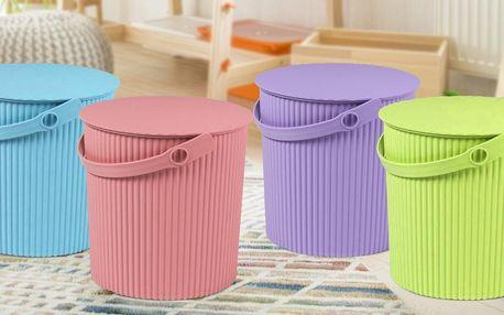 Multifunkční úložné boxy v pastelových barvách