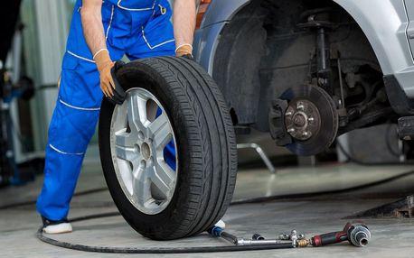 Kompletní pneuservis včetně dezinfekce vozu ozonem