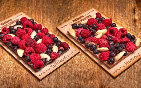 Ručně vyráběné čokolády s věnováním podle výběru
