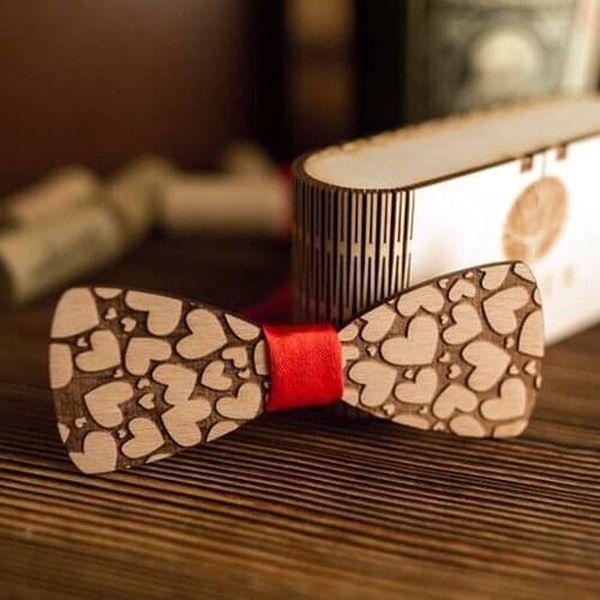 Pánský dřevěný motýlek M23