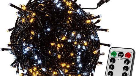 VOLTRONIC® 67604 Vánoční řetěz 10 m,100 LED,teple/stud.bílý+ovladač
