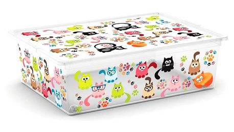 Úložný box Kis C-Box Cute Animals L 27 l