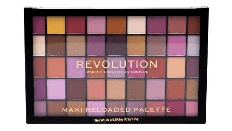 Makeup Revolution London Maxi Re-loaded 60,75 g maxi paletka pudrových očních stínů pro ženy Big Big Love