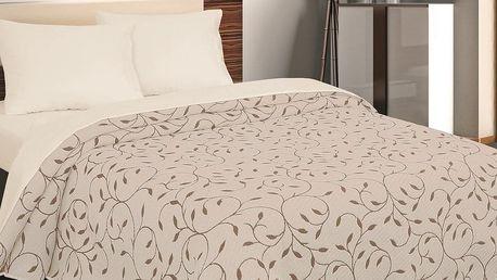 Forbyt Přehoz na postel Indiana hnědá, 240 x 260 cm