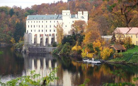 Zámek Orlík, hrad Zvíkov, plavba po Orlické přehradě, Jižní Čechy