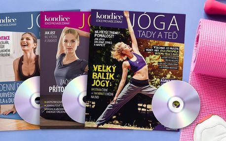 3 časopisy Jóga vč. DVD a speciál Kondice s recepty