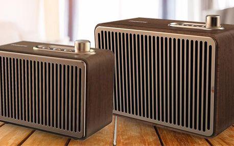 Bezdrátové reproduktory Philips v retro designu