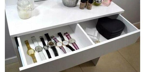 Kosmetický stolek se zrcadlem Kamila, 140 x 40 x 80 cm2