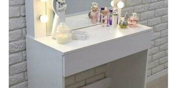 Kosmetický stolek se zrcadlem Kamila, 140 x 40 x 80 cm3