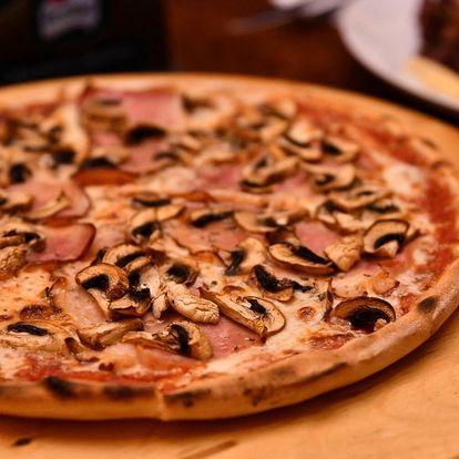1 nebo 2 pizzy s odnosem s sebou nebo rozvozem