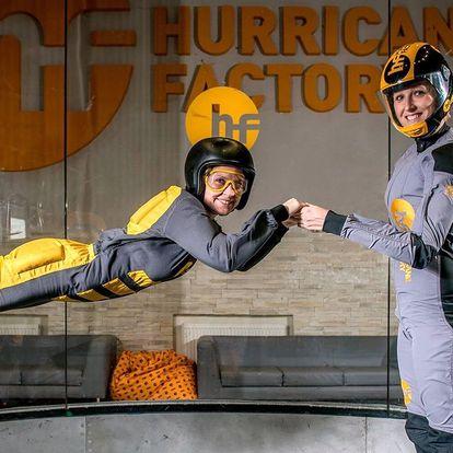 Let ve větrném tunelu s rychlostí hurikánu 270 km/h