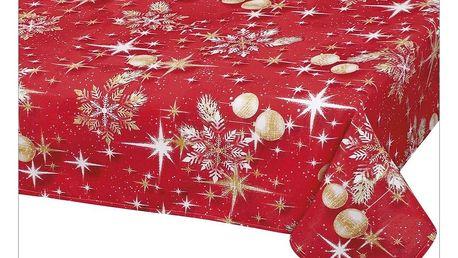 Bellatex Ubrus Vánoční zlaté koule, 100 x 100 cm
