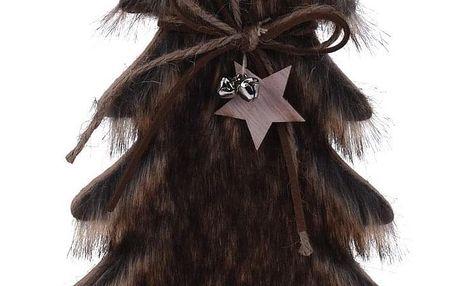 Vánoční dekorace Hairy tree tmavě hnědá, 41 cm