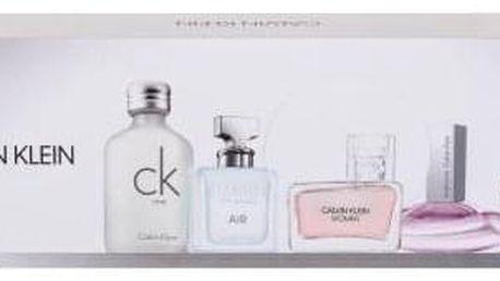 Calvin Klein Mix Giftset dárková kazeta pro ženy parfémovaná voda Eternity 5 ml + parfémovaná voda Euphoria 4 ml + parfémovaná voda Women 5 ml + parfémovaná voda Air 5 ml + toaletní voda CK One 10 ml