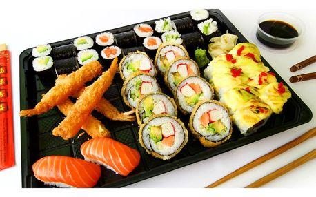 18–40 ks lahodného sushi s avokádem i tuňákem