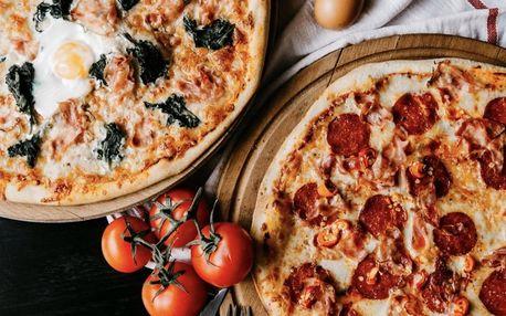 Jedna nebo dvě pizzy s průměrem 34 cm dle výběru