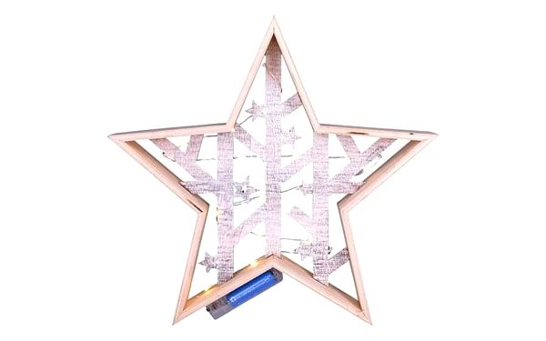 Solight LED vánoční hvězda, 29 cm, teplá bílá2