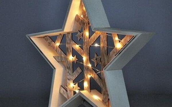 Solight LED vánoční hvězda, 29 cm, teplá bílá3