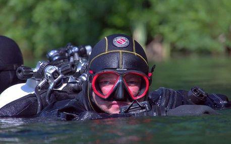 20minutová ochutnávka potápění v suchém obleku na 3 místech po ČR