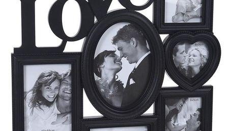 Home collection Rám na 6 fotek LOVE černá