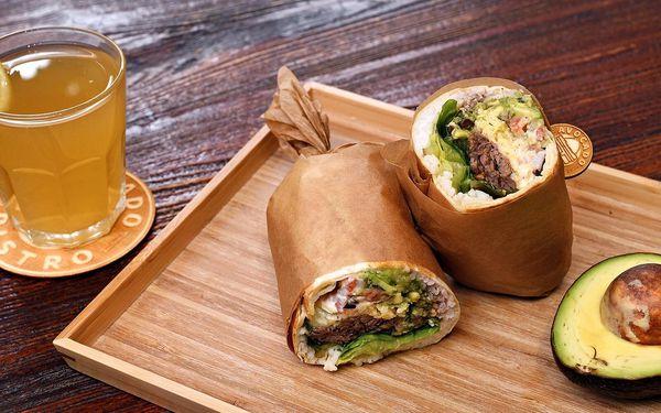 Burrito s avokádem a trhaným hovězím pro 1 i 2 os.